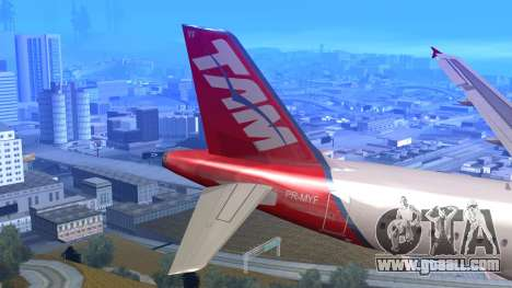 Airbus A320-200 TAM Airlines Oneworld for GTA San Andreas back left view