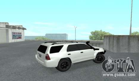 Toyota 4runner 2008 semi-off_road LED for GTA San Andreas back left view