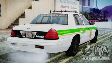 Ford Crown Victoria Miami Dade v2.0 for GTA San Andreas left view