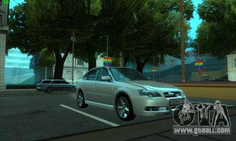Subaru Legacy for GTA San Andreas back left view