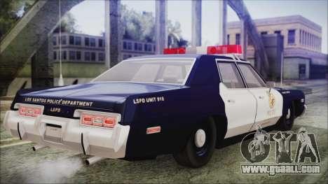 Dodge Monaco 1974 LSPD General Duties Unit for GTA San Andreas left view