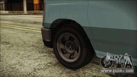 GTA 5 Bravado Rumpo for GTA San Andreas back left view