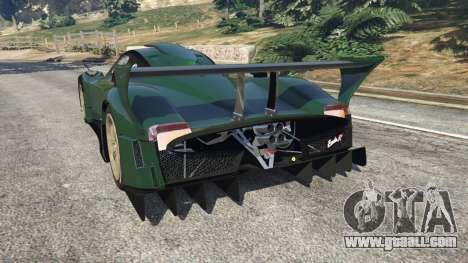 GTA 5 Pagani Zonda R v0.91 rear left side view