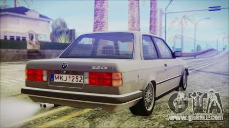 BMW 320i E21 1985 LT Plate for GTA San Andreas left view