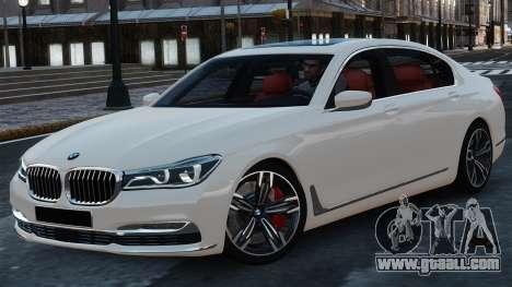 BMW 7-er 2016 for GTA 4