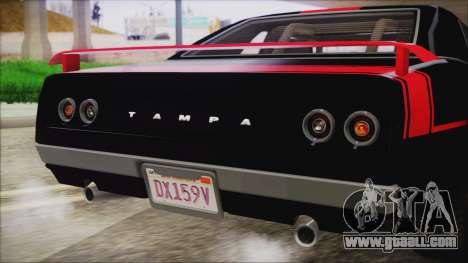 GTA 5 Declasse Tampa IVF for GTA San Andreas upper view