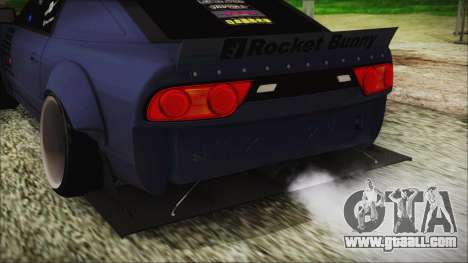 Nissan 180SX Rocket Bunny Edition for GTA San Andreas back view