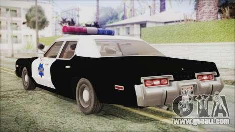 Dodge Monaco 1974 SFPD IVF for GTA San Andreas left view