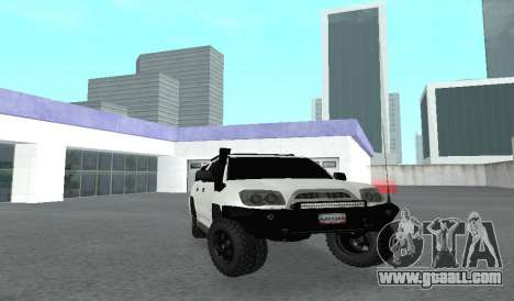 Toyota 4runner 2008 semi-off_road LED for GTA San Andreas back view