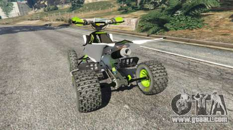 GTA 5 Yamaha YZF 450 ATV Monster Energy rear left side view