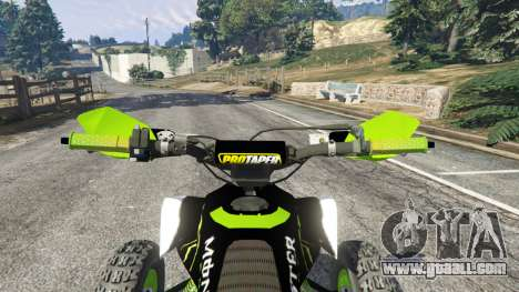 GTA 5 Yamaha YZF 450 ATV Monster Energy rear right side view