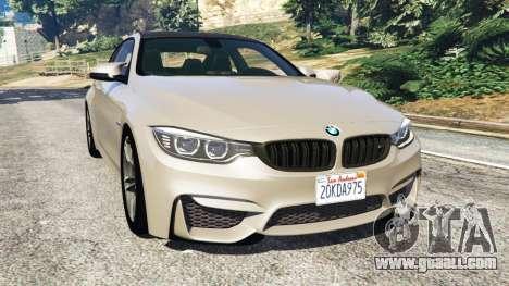 BMW M4 2015 v1.1 for GTA 5