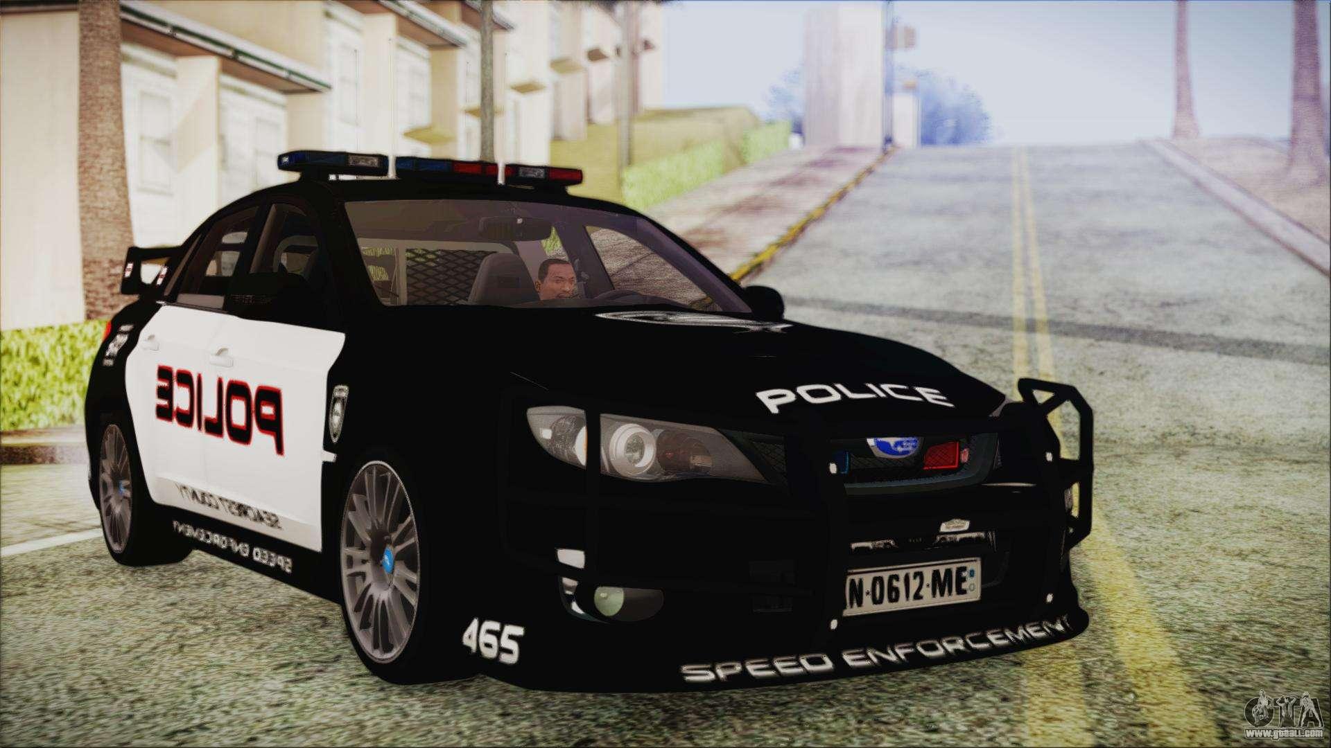 Subaru 7 Passenger >> Subaru Impreza Police for GTA San Andreas