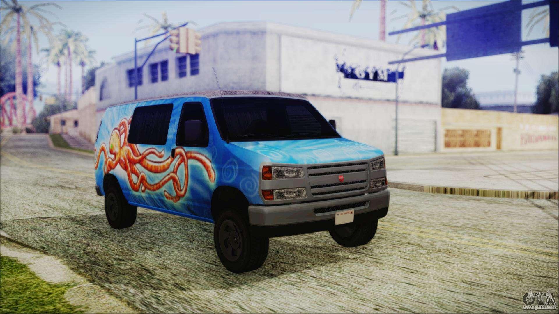 Grumman Llv For Gta San Andreas Mail Truck Fuel Filter 5 Bravado Paradise Octopus Artwork