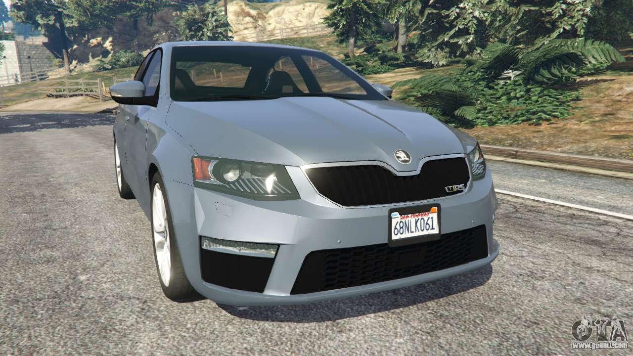 Skoda Octavia Vrs 2014 Hatchback For Gta 5