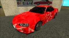 Nissan Skyline R34 Drift Red Star