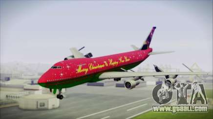 Boeing 747-100 Merry Christmas and Happy NY for GTA San Andreas