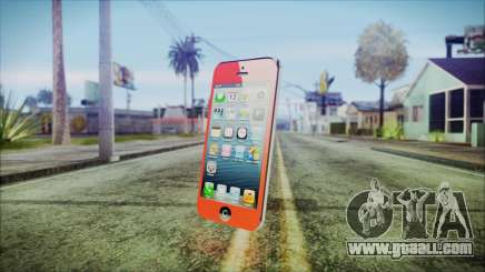 iPhone 5 Red for GTA San Andreas