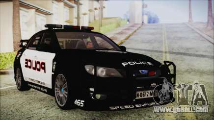 Subaru Impreza Police for GTA San Andreas