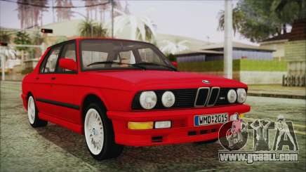 BMW M5 E28 1988 for GTA San Andreas