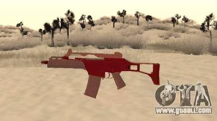 Christmas G36c camo for GTA San Andreas