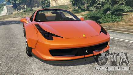 Ferrari 458 Italia Spider [LibertyWalk] for GTA 5
