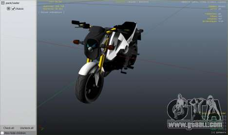 GTA 5 Honda MSX 125 right side view