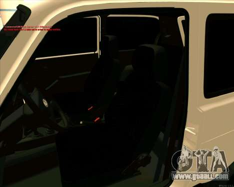 Niva 2121-Dorjar [ARM] for GTA San Andreas upper view