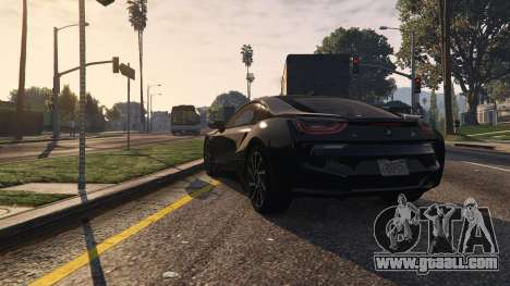 GTA 5 2015 BMW I8 back view