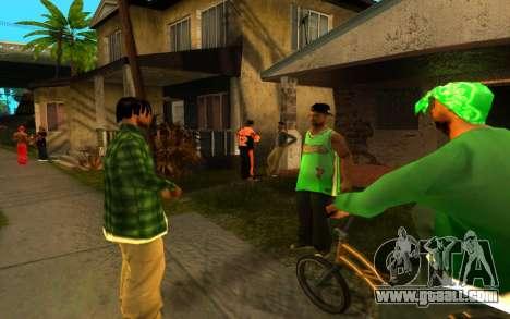 The revival of the street ganton for GTA San Andreas