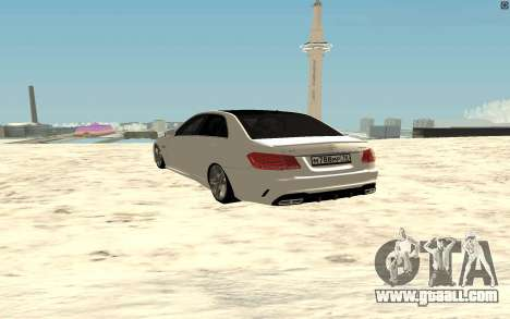Mercedes-Benz E63 AMG for GTA San Andreas back left view
