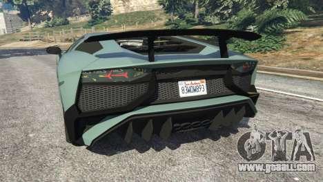 GTA 5 Lamborghini Aventador Super Veloce v0.2 rear left side view