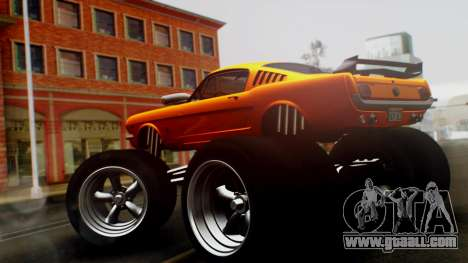 Ford Mustang 1966 Chrome Edition v2 Monster for GTA San Andreas left view