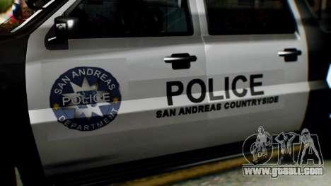 GTA 5 Police Ranger for GTA San Andreas right view