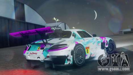 Mercedes-Benz SLS AMG GT3 2015 Hatsune Miku for GTA San Andreas left view