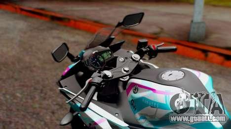 Yamaha R25 2015 EV Mirai Miku Racing 2013 for GTA San Andreas back view