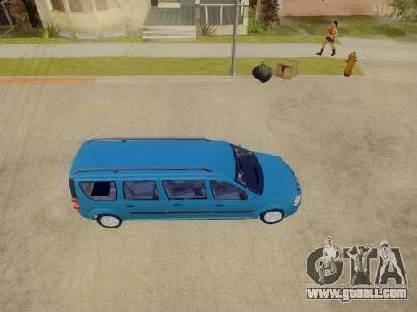 Lada Largus 7-door for GTA San Andreas inner view