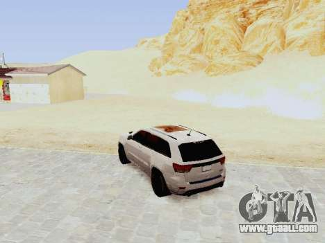 Jeep Grand Cherokee SRT8 2013 Tuning for GTA San Andreas back left view
