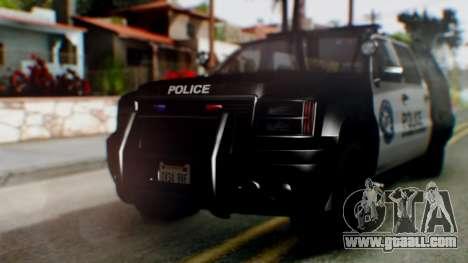 GTA 5 Police Ranger for GTA San Andreas left view