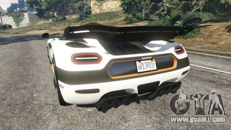 Koenigsegg One1 2014 v1.1 for GTA 5