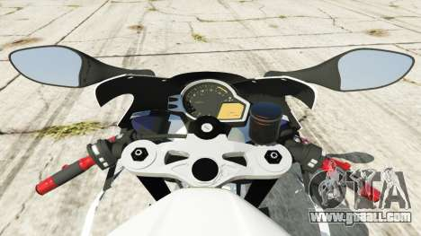 GTA 5 Honda CBR1000RR [Repsol White] rear right side view