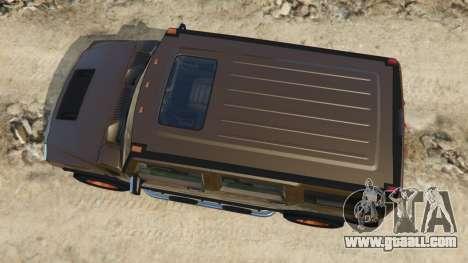 GTA 5 Hummer H2 2005 [tinted] back view