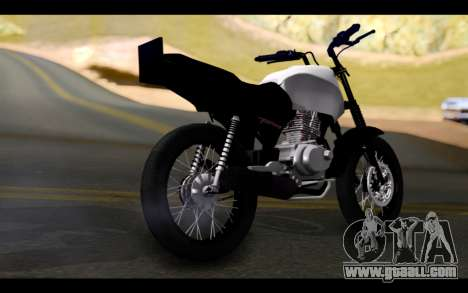 Honda CG Titan 150 Stunt Imitacion for GTA San Andreas left view