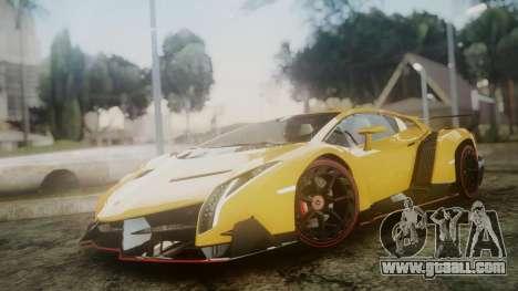 Lamborghini Veneno 2012 for GTA San Andreas back left view