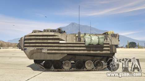 GTA 5 AAV-7A1 AMTRAC left side view