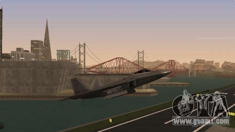 F-22 Raptor PJ for GTA San Andreas back left view