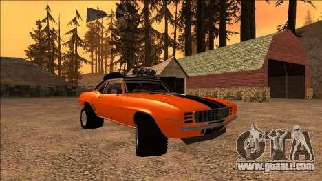 Chevrolet Camaro SS Rusty Rebel for GTA San Andreas inner view