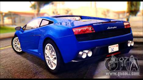 Lamborghini Gallardo LP560 for GTA San Andreas left view