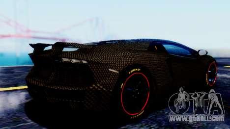 Lamborghini Aventador Mansory Carbonado for GTA San Andreas left view