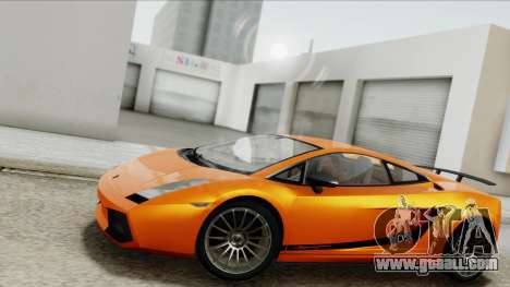 Lamborghini Gallardo Superleggera for GTA San Andreas inner view